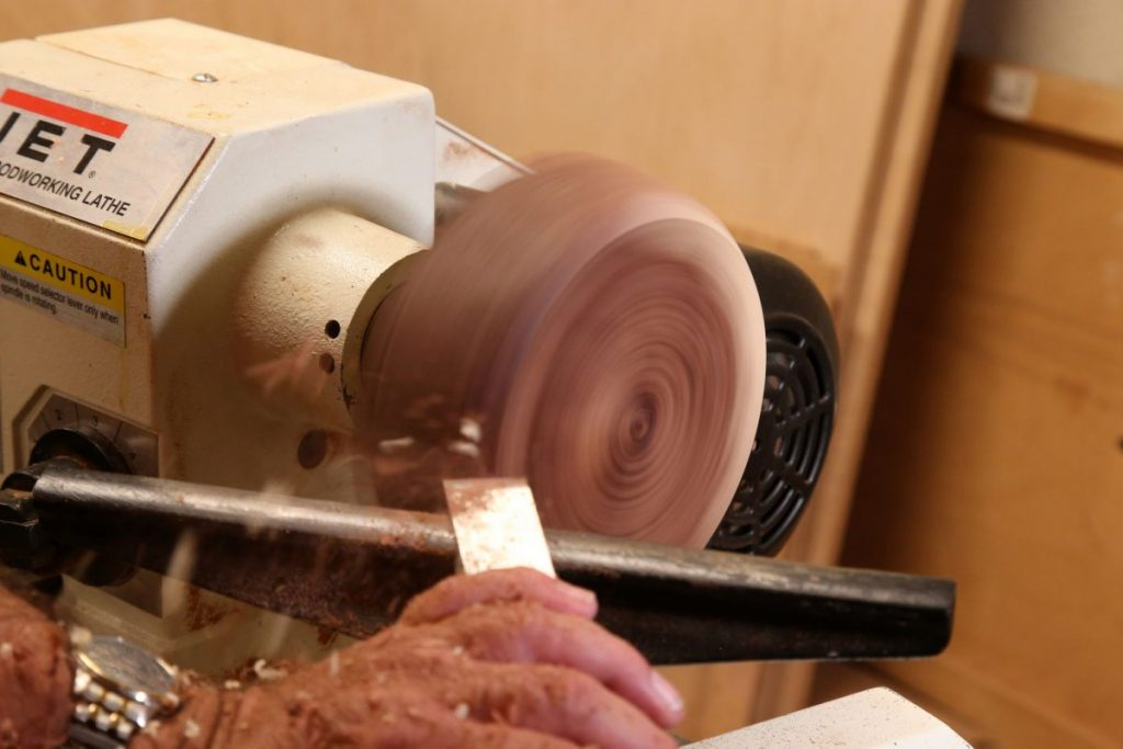 Turning Wood in Action