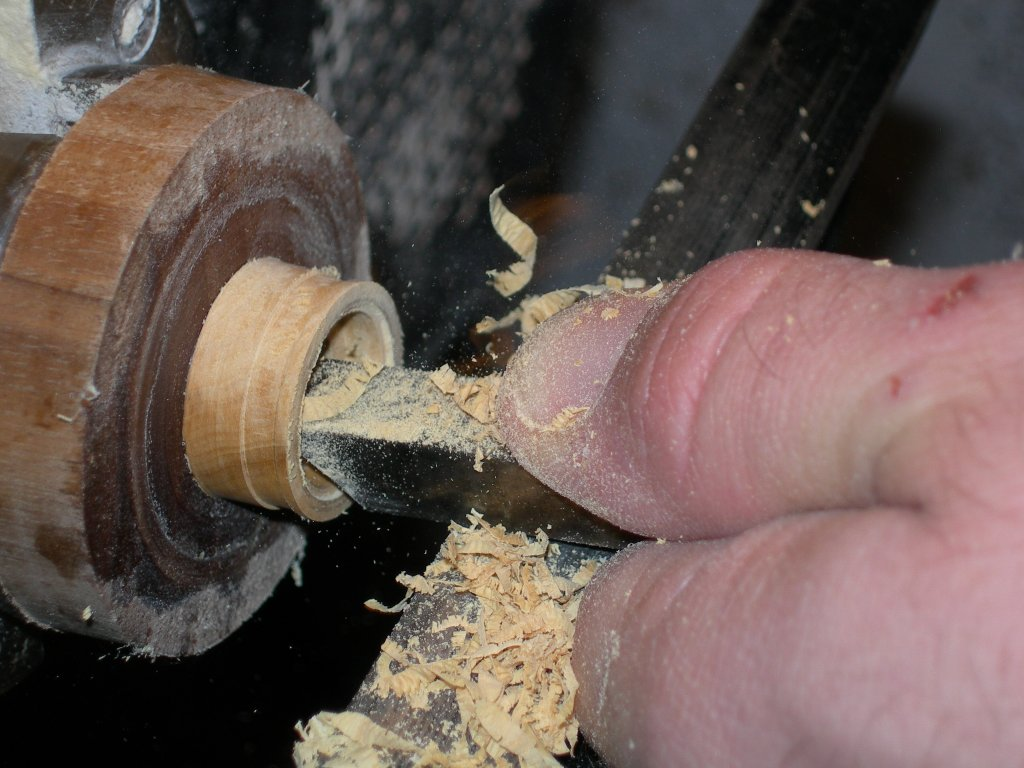 Hollowing out the inside of the ring