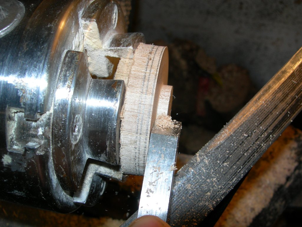 Making a jam chuck to hold the wood ring on the lathe