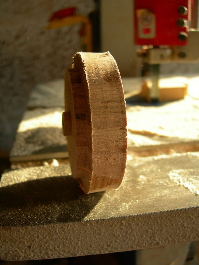 This piece of boxwood is the basis for the ring
