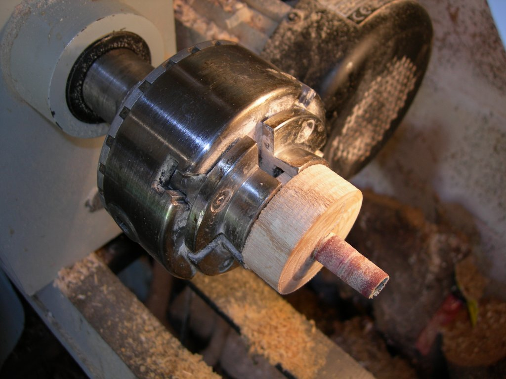 Make your own sander on the lathe